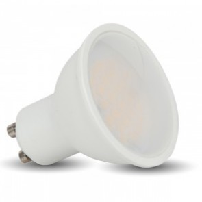 LED Spotlight - 5W GU10 SMD White Plastic 320Lm Warm White 110°