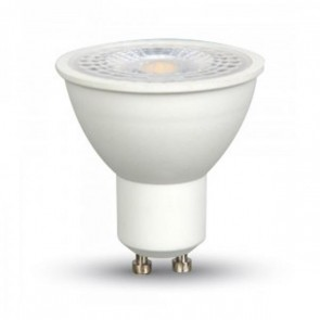 LED Spotlight - 7W GU10 Plastic With Lens White 110°