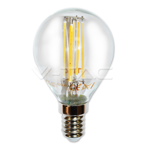 LED Bulb - 4W Filament Patent E14 P45 Warm White Dimmable