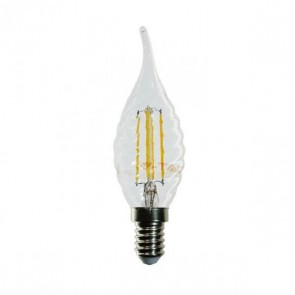 LED Bulb - 4W Filament Patent E14 Twist Candle Tail Warm White