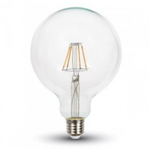 LED Bulb - 4W Filament Patent E27 G125 Warm White Dimmable