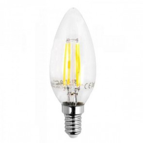 LED Bulb - 4W Filament Patent E14 Candle 4500K