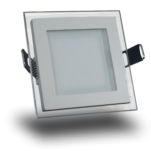 6W LED Panel Downlight Glass - Square White