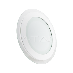 12W LED Panel Downlight Glass Round Change Color 3000K/4500K/6000K